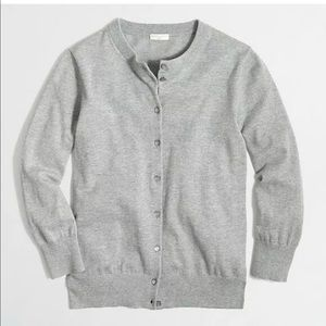 J.CREW Factory Clare Cardigan Sweater Heather Grey